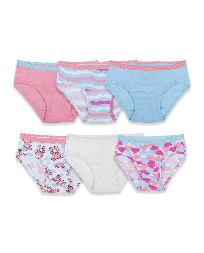 Toddler Girls' Assorted Hipster Panty, 6 Pack Assorted
