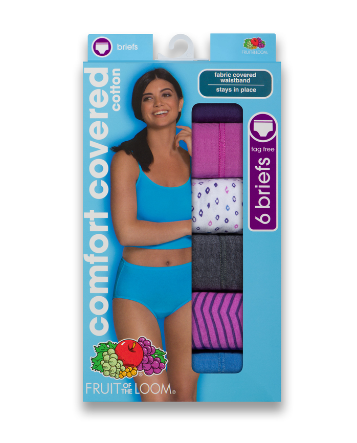 Women's Comfort Covered Cotton Brief, 6 Pack