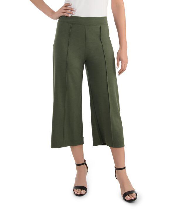 Women's Seek No Further Wide Leg Ponte Cropped Pants Military Green