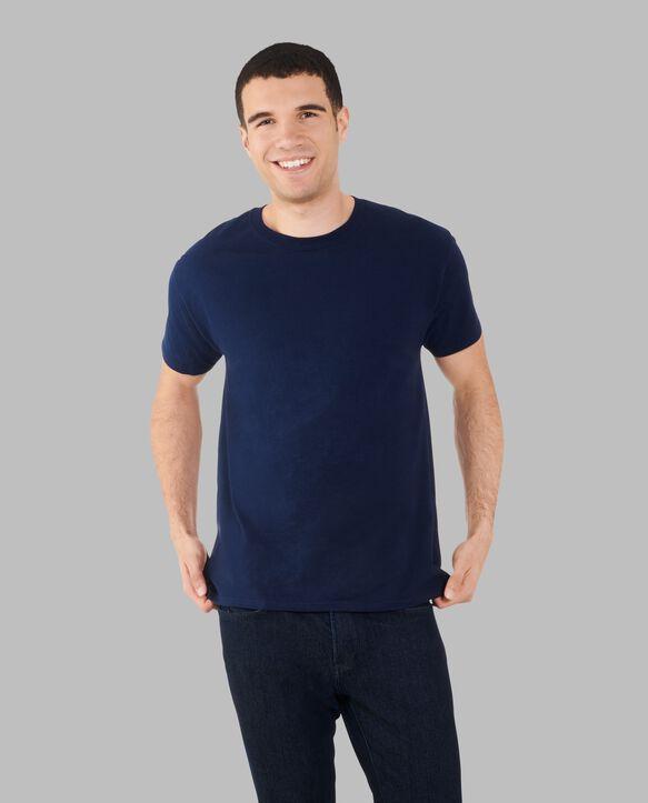 Big Men's Dual Defense UPF Short Sleeve Crew T-Shirt Blue Cove