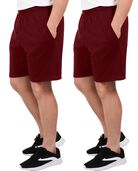 Men's Dual Defense UPF Jersey Shorts, 2 Pack Flute Wine