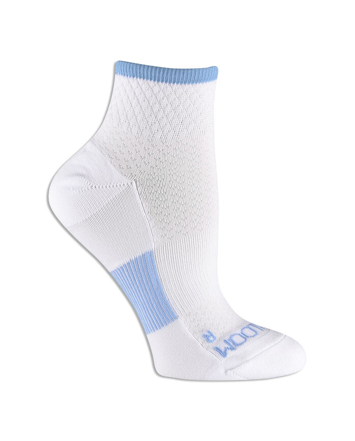 Women's Fit For Me® Breathable Nylon Ankle Pair, 3 Pack, Size 4-10 WHITE/BLUE, WHITE/GREEN, WHITE/PINK