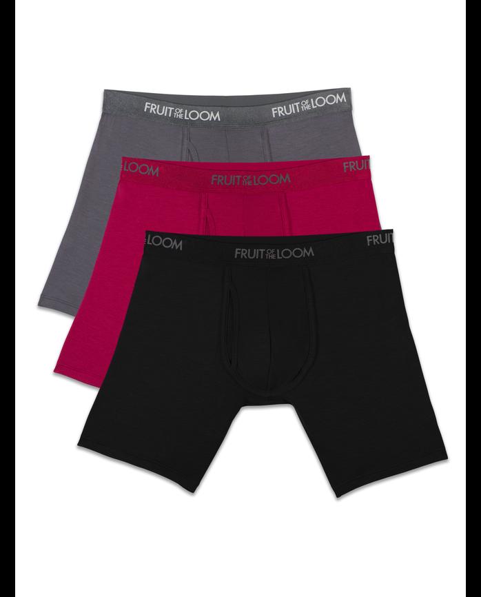 Men's Premium Luxe Assorted Boxer Briefs, 3 Pack