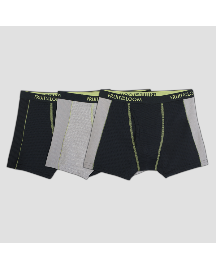 Boys' 3pk Breathable Ultra Flex Assorted Colors Boxer Briefs