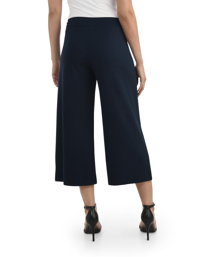 Women's Seek No Further Wide Leg Ponte Cropped Pants Navy Nights