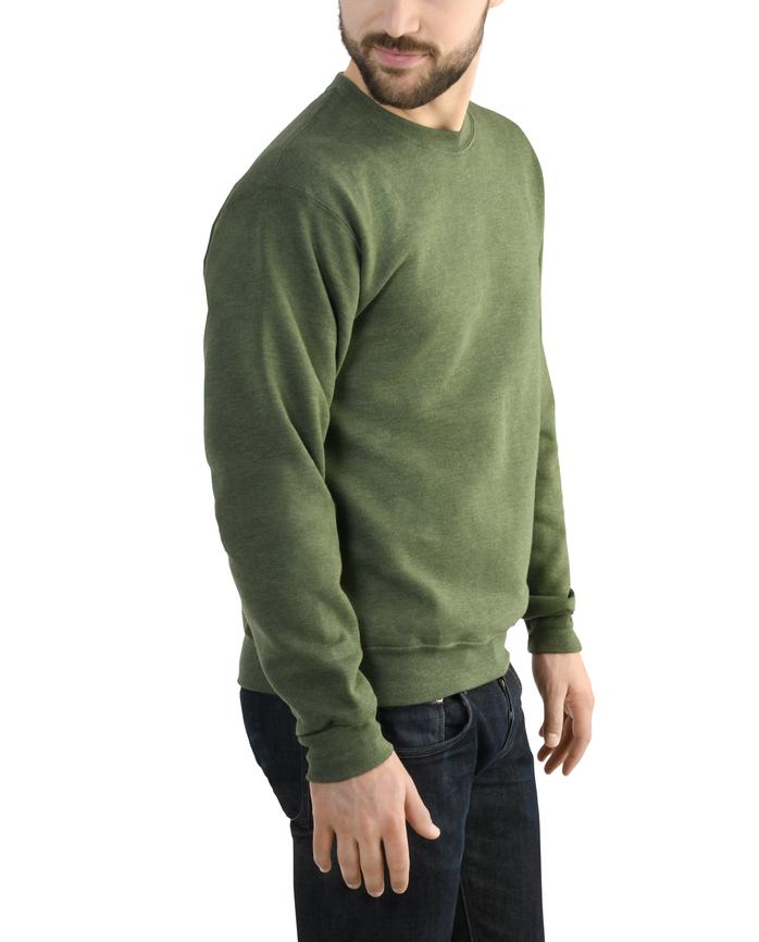 Big Men's EverSoft Fleece Crew Sweatshirt, 1 Pack Four Leaf Clover Heather
