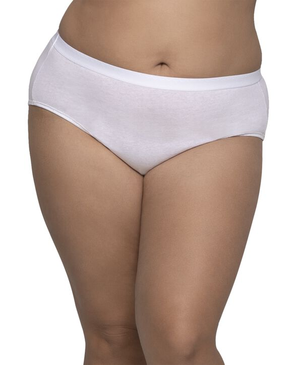 Women's Plus Size Fit for Me® by Fruit of the Loom® Cotton Hipster Panty, 6 Pack Assorted