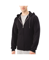 Big Men's EverSoft Fleece Full Zip Hoodie Jacket, 1 Pack Black