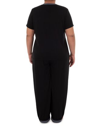 Women's Fit For Me By Fruit of The Loom Plus Size V-neck Pajama Set