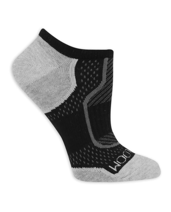 Women's CoolZone Cotton Lightweight No Show Socks, 6 Pack