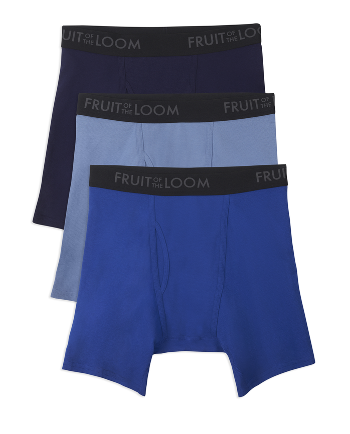 Men's Breathable Assorted Color Boxer Brief, 3 Pack, Size 2XL