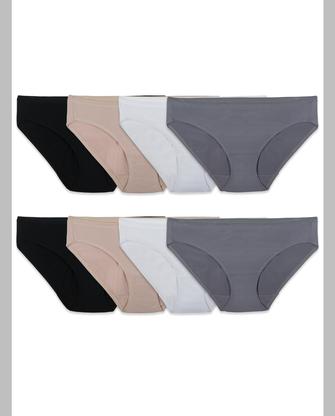Women's Breathable Micro-Mesh Bikini, 8 Pack