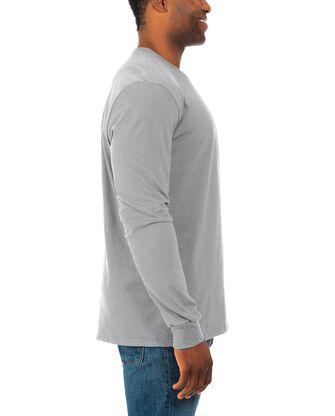 Men's Soft Long Sleeve Crew Neck T-Shirt, 2 Pack
