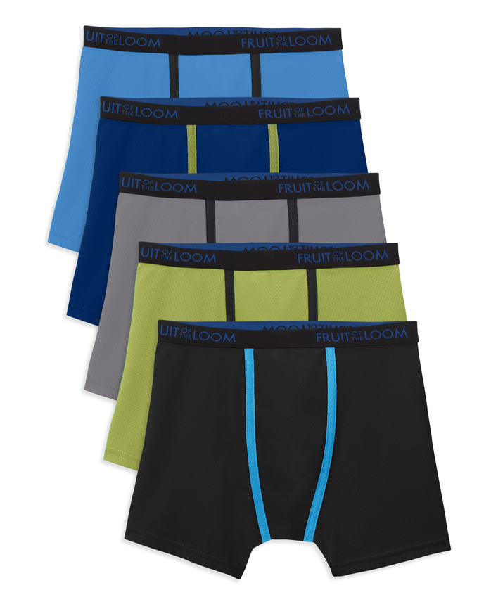 Boys' Breathable Micro Mesh Boxer Brief, 5 Pack