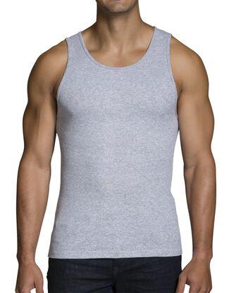 Men's Black/Gray A-Shirts, 2 Pack, Size 2XL
