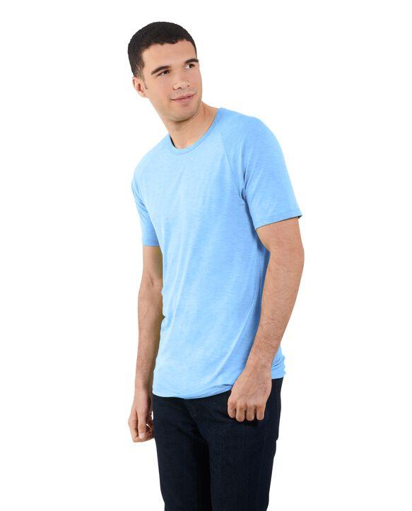 Big Men's Short Sleeve EverLight™ Raglan T-Shirt, 2 Pack Cloud Blue Heather