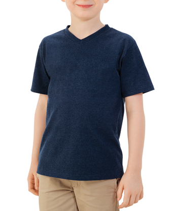 Boys' Short Sleeve V-Neck T-Shirt, 2 Pack