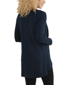 Women's Seek No Further Open Front Long Sleeve Ponte Stretch Jacket Navy Nights