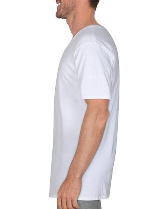 BVD Men's White Cotton V-Neck, 6 Pack