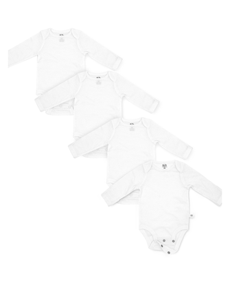 Baby Long Sleeve Breathable Bodysuits, 3 Pack