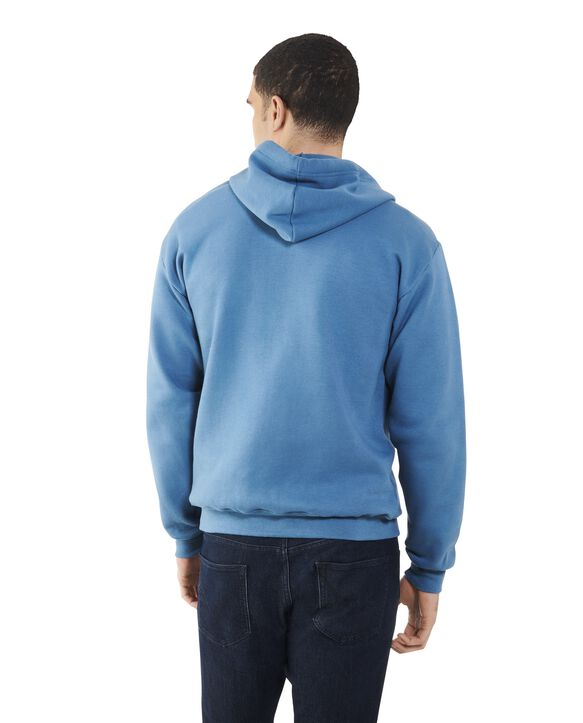 Men's EverSoft Fleece Full Zip Hoodie Jacket, 1 Pack Blue Ashes