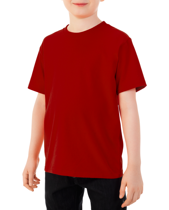 Boys' Short Sleeve Crew T-Shirt, 2 Pack Red