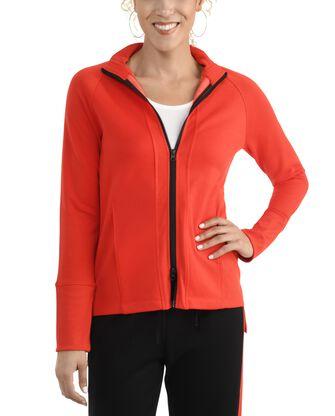Women's Seek No Further Long Sleeve Full Zip Raglan Track Jacket