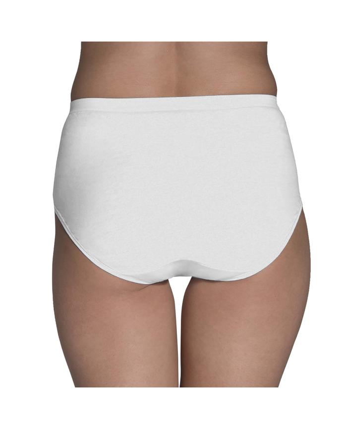 Women's White Cotton Brief, 10 Pack White