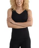 Women's Seek No Further V-Neck Tank Top Brilliant Black