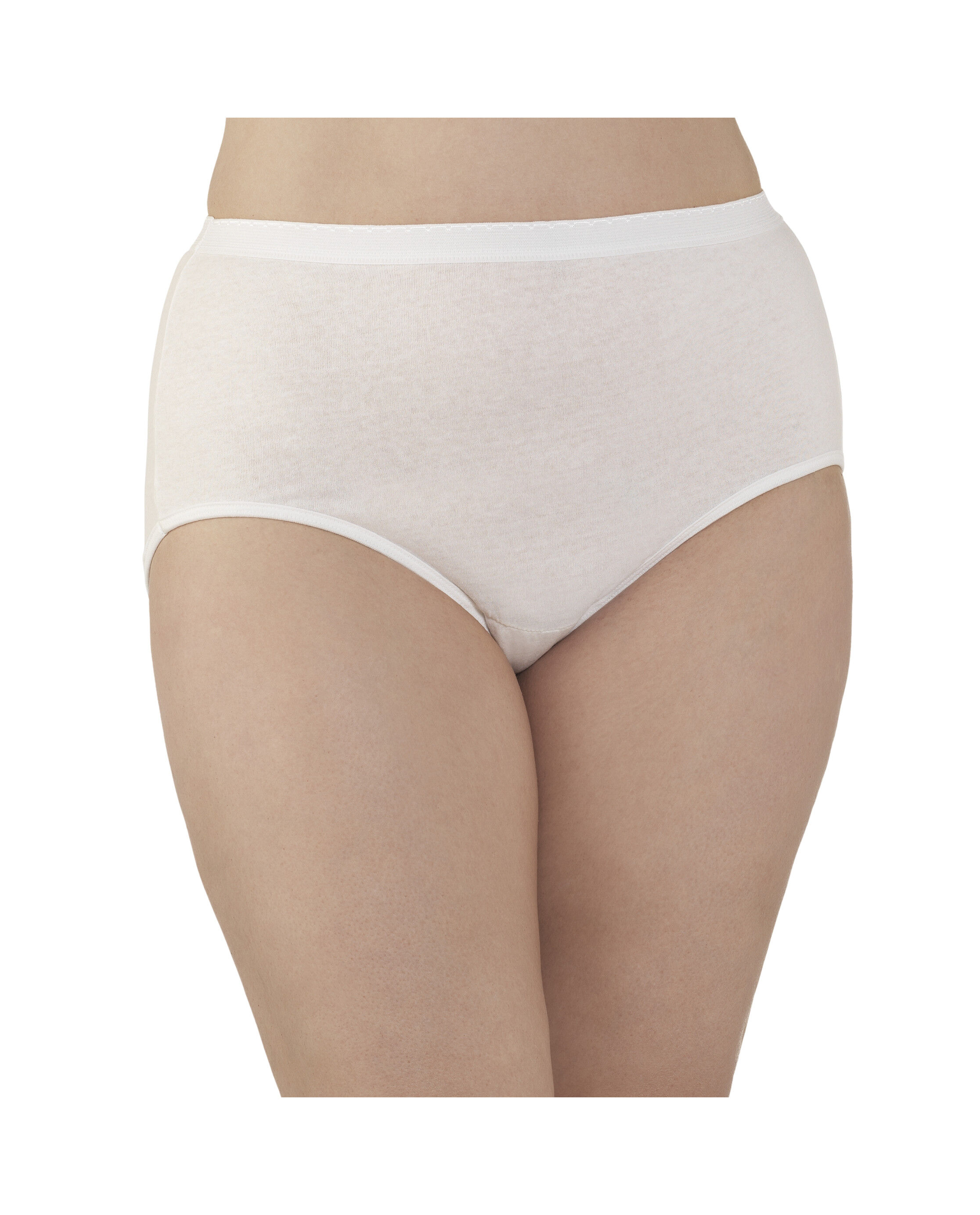 FRUIT OF THE LOOM ~ 12 NEW Womens Cotton Briefs Underwear Panties White 2XL 9