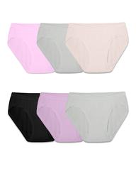 Girls' Assorted Microfiber High Leg Bikini, 6 Pack