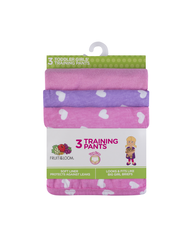 Toddler Girls' 3 Pack Training Pant Assorted