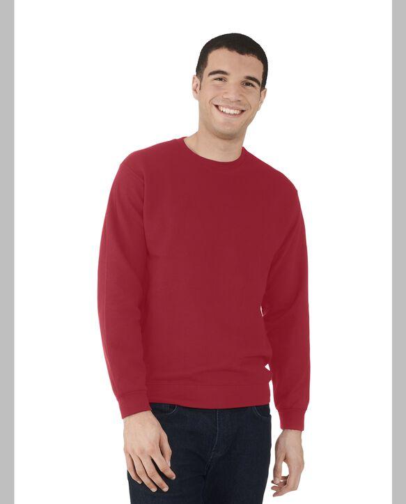 Men's EverSoft Fleece Crew Sweatshirt, 1 Pack Brilliant Red