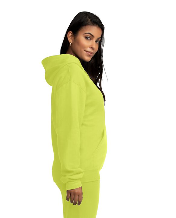 EverSoft Fleece Pullover Hoodie Sweatshirt, Extended Sizes, 1 Pack Safety Green