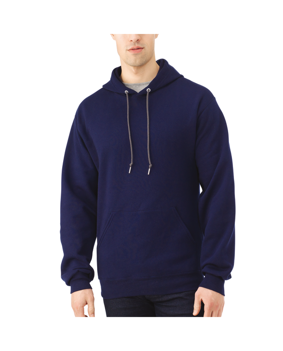 Big Men's EverSoft Fleece Pullover Hoodie Sweatshirt, 1 Pack J.Navy