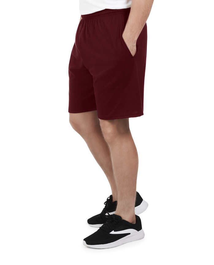 Men's Dual Defense UPF Jersey Shorts, 1 Pack Flute Wine