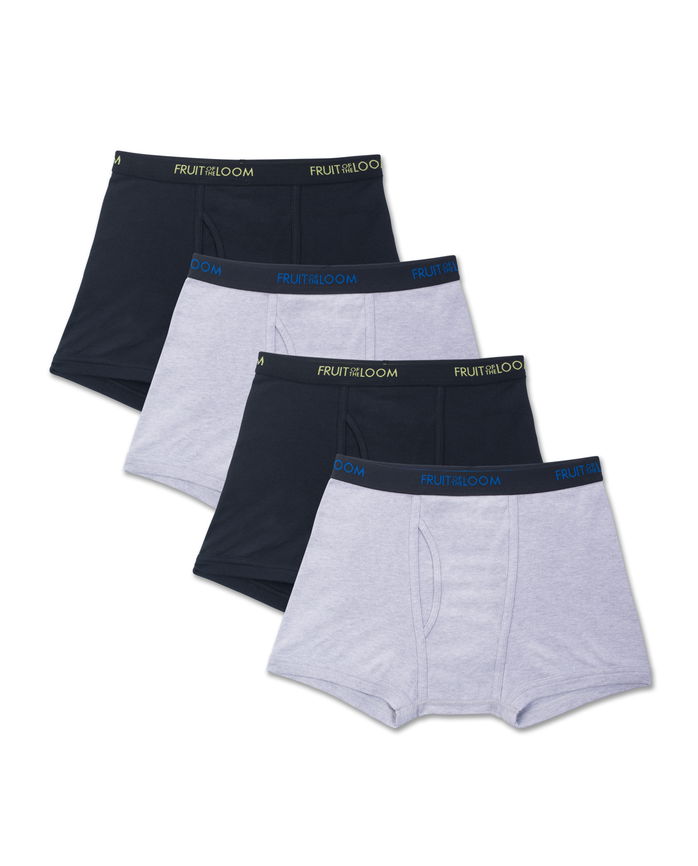 Fruit of the Loom Premium Dri-Stretch Men's Short Leg Boxer Briefs, 4 Pack - Assorted