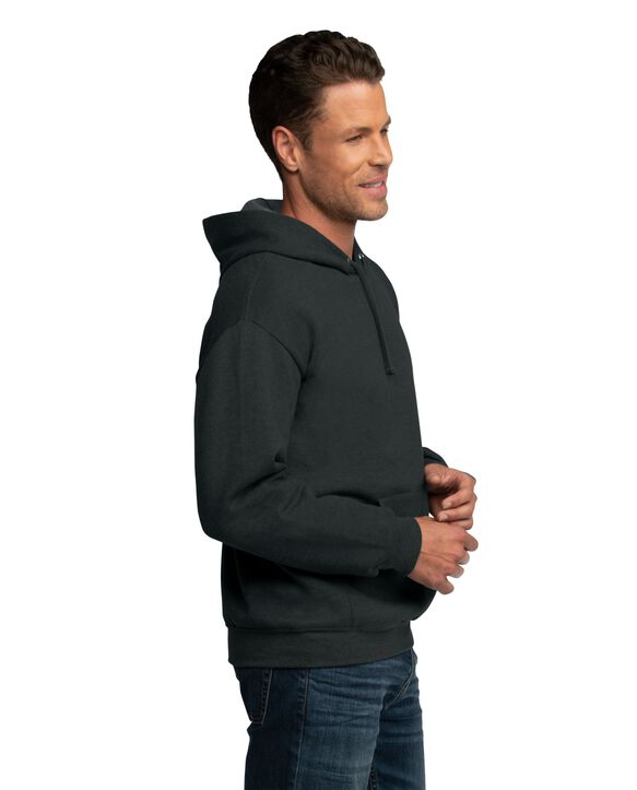 EverSoft Fleece Pullover Hoodie Sweatshirt, Extended Sizes, 1 Pack Black Heather