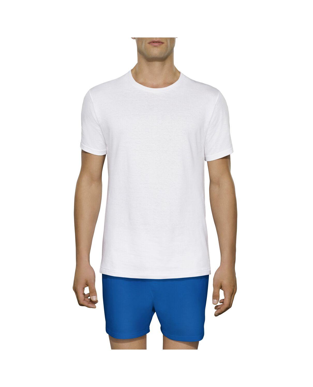 Men 39 s 3 pack tall man white crew t shirt fruit us for T shirt for tall man
