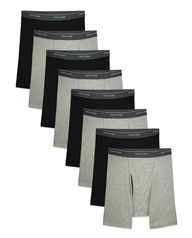 Men's CoolZone Black and Gray Boxer Briefs, 8 Pack