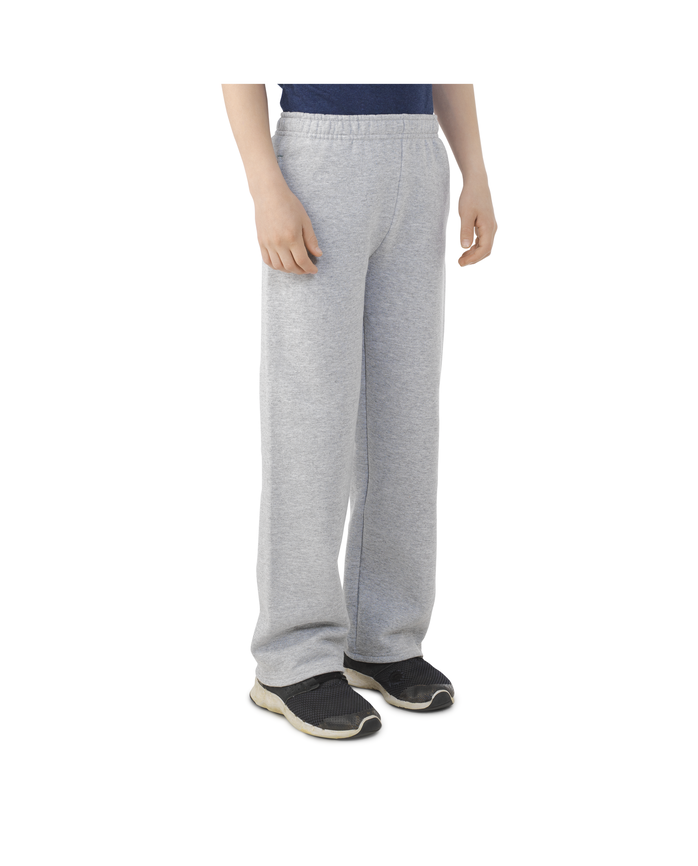Boys Fleece Open Bottom Sweatpants Athletic Heather