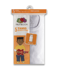 Toddler Boys' Tank, 5 pack WTH