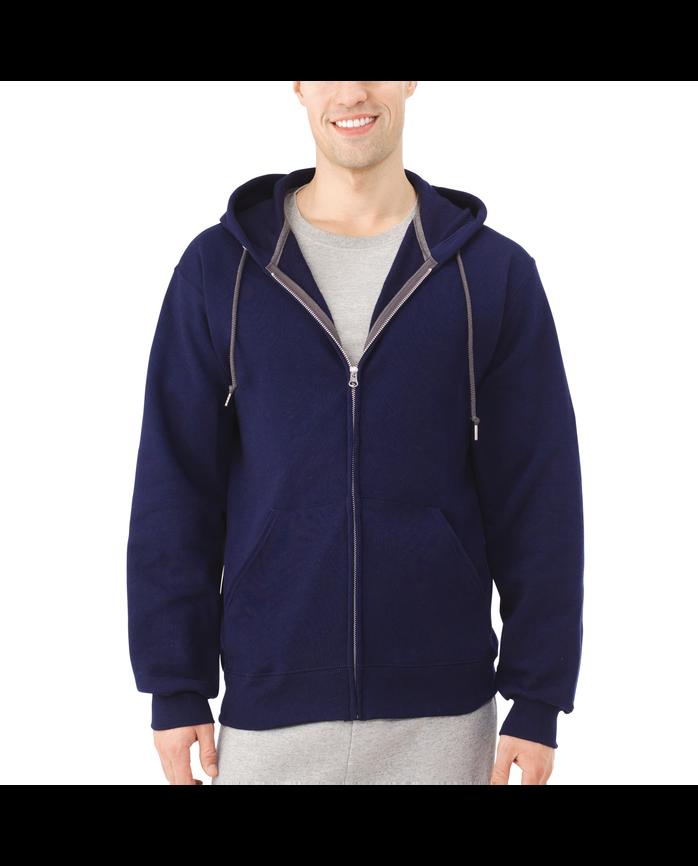 Big Men's EverSoft Fleece Full Zip Hoodie Jacket J.Navy
