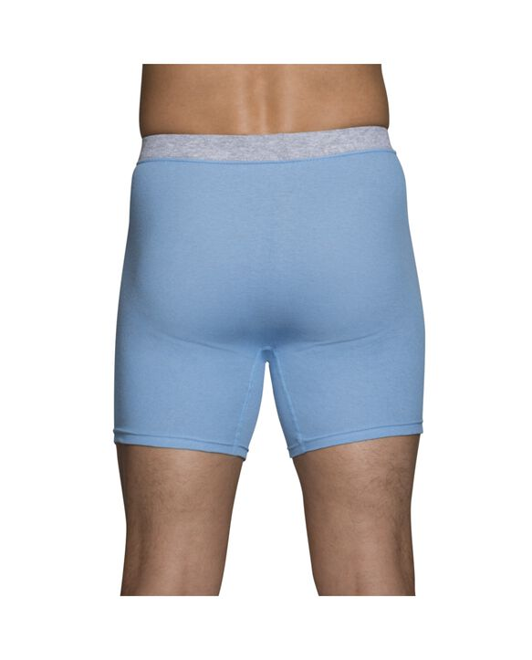 Men's Covered Waistband Boxer Briefs, 5 Pack Assorted Color