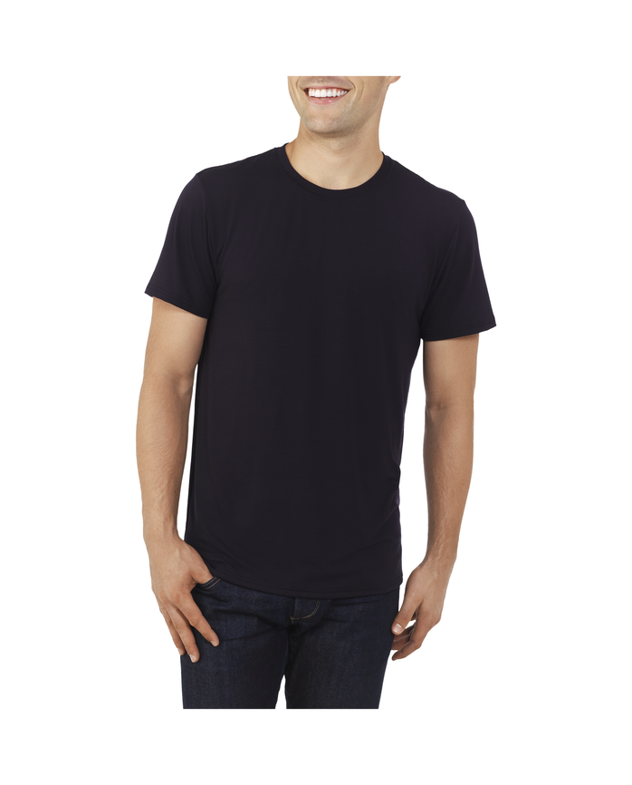 Men's EverLight™ Crew Neck T-Shirt, 1 Pack Brilliant Black