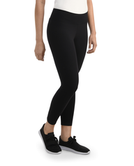 Women's Seek No Further Wide Waistband Ponte Leggings Brilliant Black