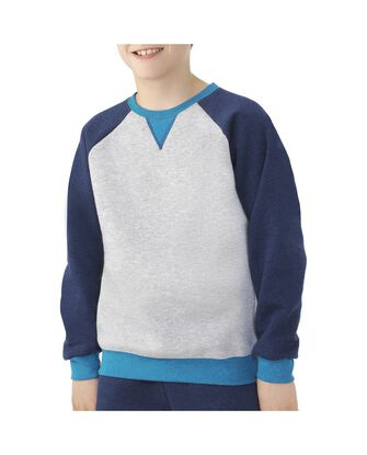 Boys' Fleece Raglan Crewneck Sweatshirt, 1 Pack