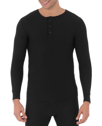 Men's Waffle Thermal Henley Top, 1 Pack