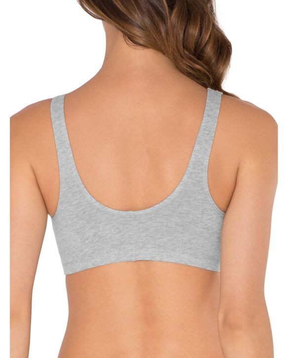 Women's Beyond Soft Front Closure Cotton Bra, 1 Pack HEATHER GREY