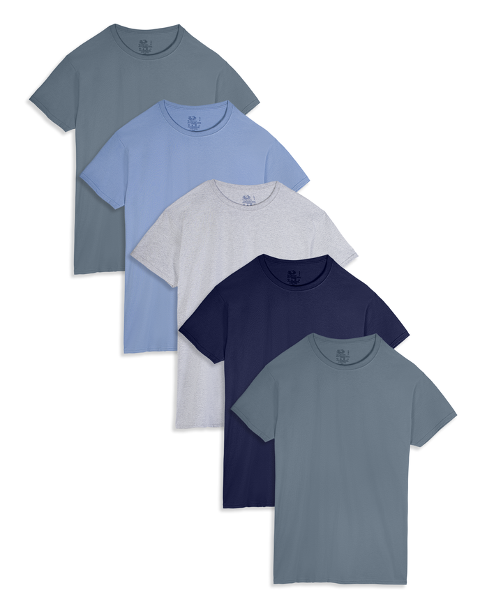 Men's Short Sleeve Assorted Crew T-Shirts, 5 Pack